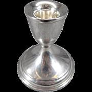 Vintage Preisner Sterling Silver Candlestick Holder