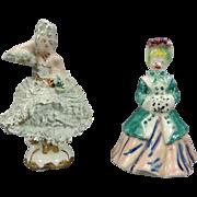 Vintage Hand-Painted Porcelain Figurines