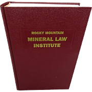 Rocky Mountain Mineral Law Institute #40