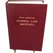 Rocky Mountain Mineral Law Institute #29