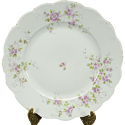 Moritz Zdekauer Dining Plate c. 1900s with Flora Pattern