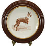 Bradford Exchange Ltd Ed of 200 Boston Terrier Decorative c. 1992 Framed