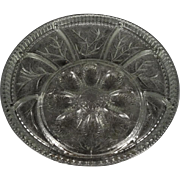 "Indiana Glass Relish Egg-Vegetable Platter 13"" c. 1960's"