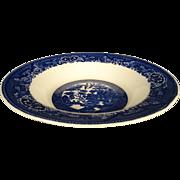 "Vintage Willow Ware Royal China Blue Willow 9"" Salad/Serving Bowl."