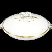 Vintage Haviland Limoges Footed Oval Vegetable Tureen Covered Dish c. 1880