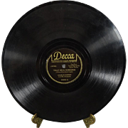 """Charlie Barnet 78 RPM Decca Records """"Smiles/That Real Romance"""""""