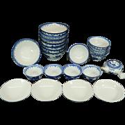Vintage Asian Porcelain Serving Bowls Set of 23 Pieces