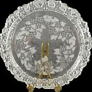 Mikasa Carmen Pattern Crystal Cake Plate/Platter