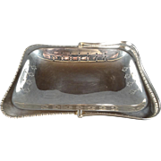 Vintage Cheltenham England EPNS Pierced Silverplated Serving Basket with Handle