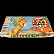 Vintage 1950s Annie Oakley Board Game by Milton Bradley