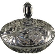 Anchor Hocking 1960's Prescut-Clear Covered Candy Dish