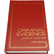 Criminal Evidence 5th Edition 1992