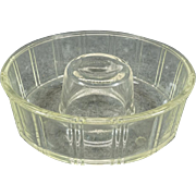 Vintage Clear Glass Glasbake Bundt Dish by Crown c. 1940s