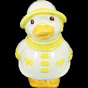 Vintage Metlox Puddles The Duck Cookie Jar California Usa