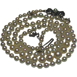 Quality vintage cultured pearl necklace.