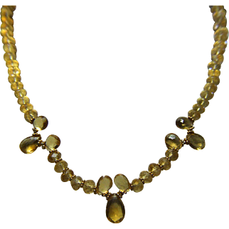Citrine Brios & Rondel Bead Necklace - One of a Kind