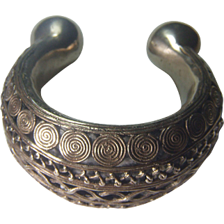 Benin Tribal Silver Alloy Armband - Ancient piece