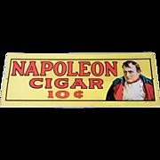 1974 Sanford J Heilner Inc. Napoleon Cigar 10 Cent Advertisement Tin Sign
