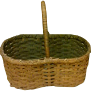 Vintage Primitive Hand-made Split Oak Harvest - Gathering - Egg Basket
