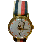 Vice President Spiro Agnew Character Wrist Watch Circa: 1970 - Works