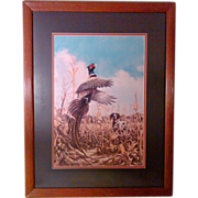 Cornfield Pheasant Signed by Linda Picken - Matted and Framed Limited Edition