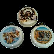 American West Porcelain Ornaments - Set of 3