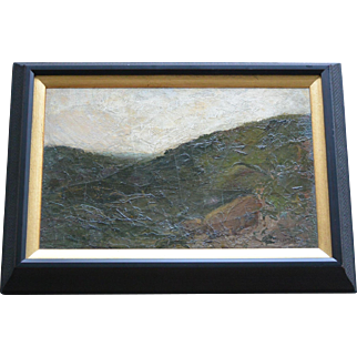 Bryant Chapin Oil Landscape Painting, Restored and Framed