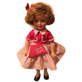 """Shirley Temple doll, ST-12, 12"""" vinyl - with extra outfits"""