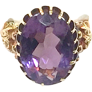 18 karat gold Amethyst Ring