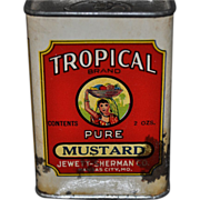 Tropical Spice Tin Mustard Jewett-Sherman Co Kansas City MO