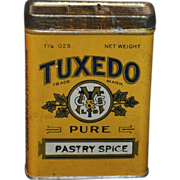 Tuxedo Spice Tin from the Tuxedo Coffee and Spice Mills Calgary Canada