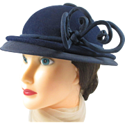 Fascinating GLENOVER Harry Pollak hat in dark navy