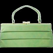 1950s Frame purse in pistachio pleather