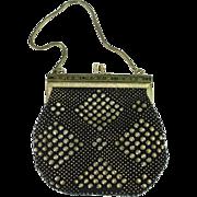 Vintage enamel framed beaded purse - Red Tag Sale Item