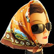 Souvenir scarf French Mediterranean. Josette Franco, Paris