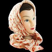 Very vintage Saks 5th Avenue pure silk scarf.