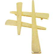 CELEBRITY Asian Hashtag symbol gold-tone pin