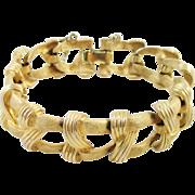 COROCRAFT goldtone ribbon link bracelet