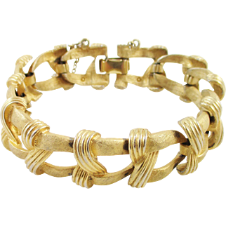 COROCRAFT goldtone ribbon link bracelet