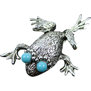 """EMMONS silvertone turquoise """"Leap Frog"""""""