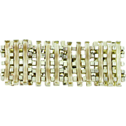 Wide Thermoset gold-tone link bracelet