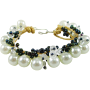 Artisan Faux Pearl and Crystal AB bracelet