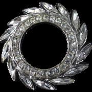 HOBE rhinestone circle brooch