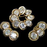 JUDY LEE Orbit  rhinestone pin and earrings set
