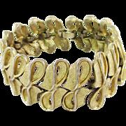 KRAMER wide link brushed gold-tone bracelet