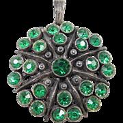 Little Nemo LN Emerald Rhinestone necklace pendant