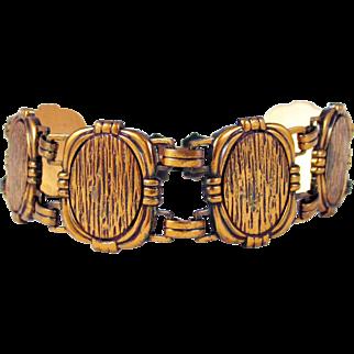 REBAJES link bracelet Faux Bois finish