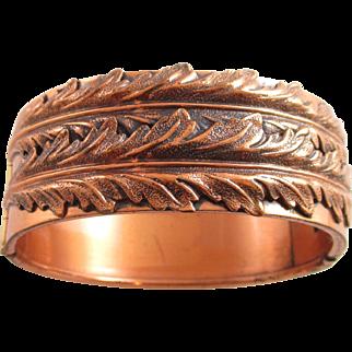RENOIR wide leaf bracelet