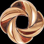 Mint RENOIR wave curls copper pin