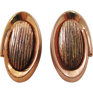 RENOIR Faux Bois Copper earrings